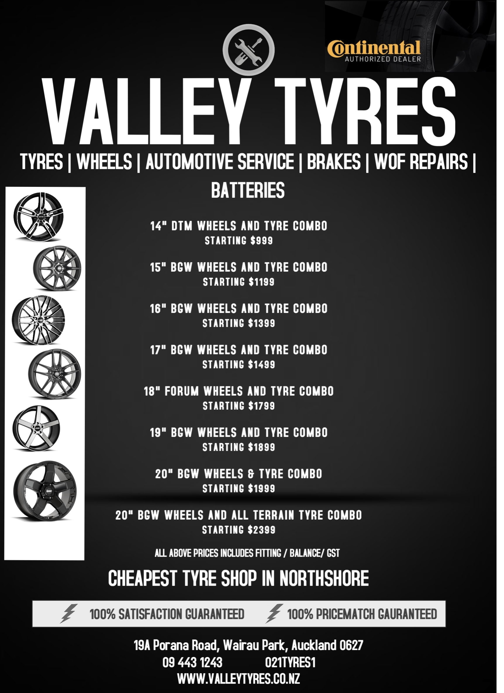 JANUARY SPECIAL OF THE MONTH TYRE AND WHEEL COMBO