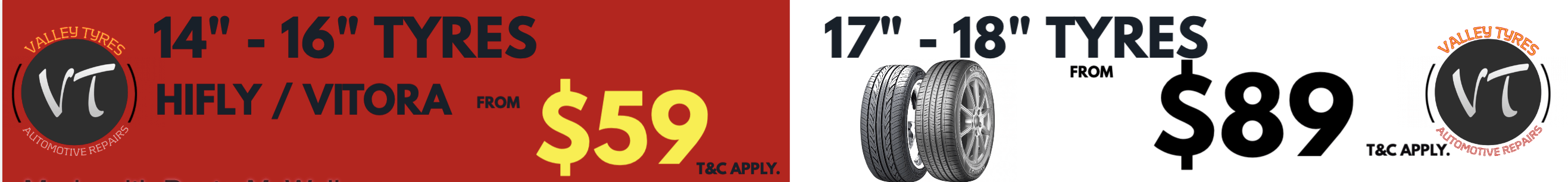 Valley Tyres Buy 3 Get 1 Free Sales