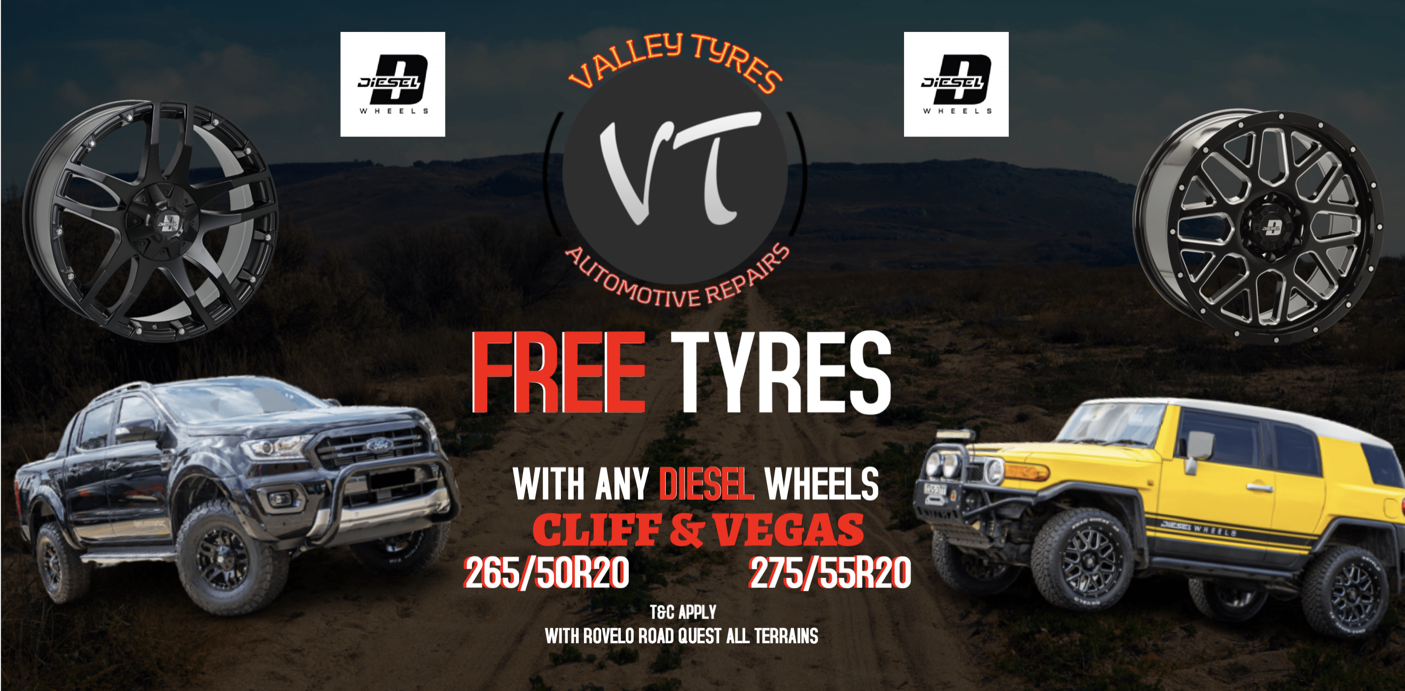 Valley Tyres & Wheels Sale - Off-road vehicle
