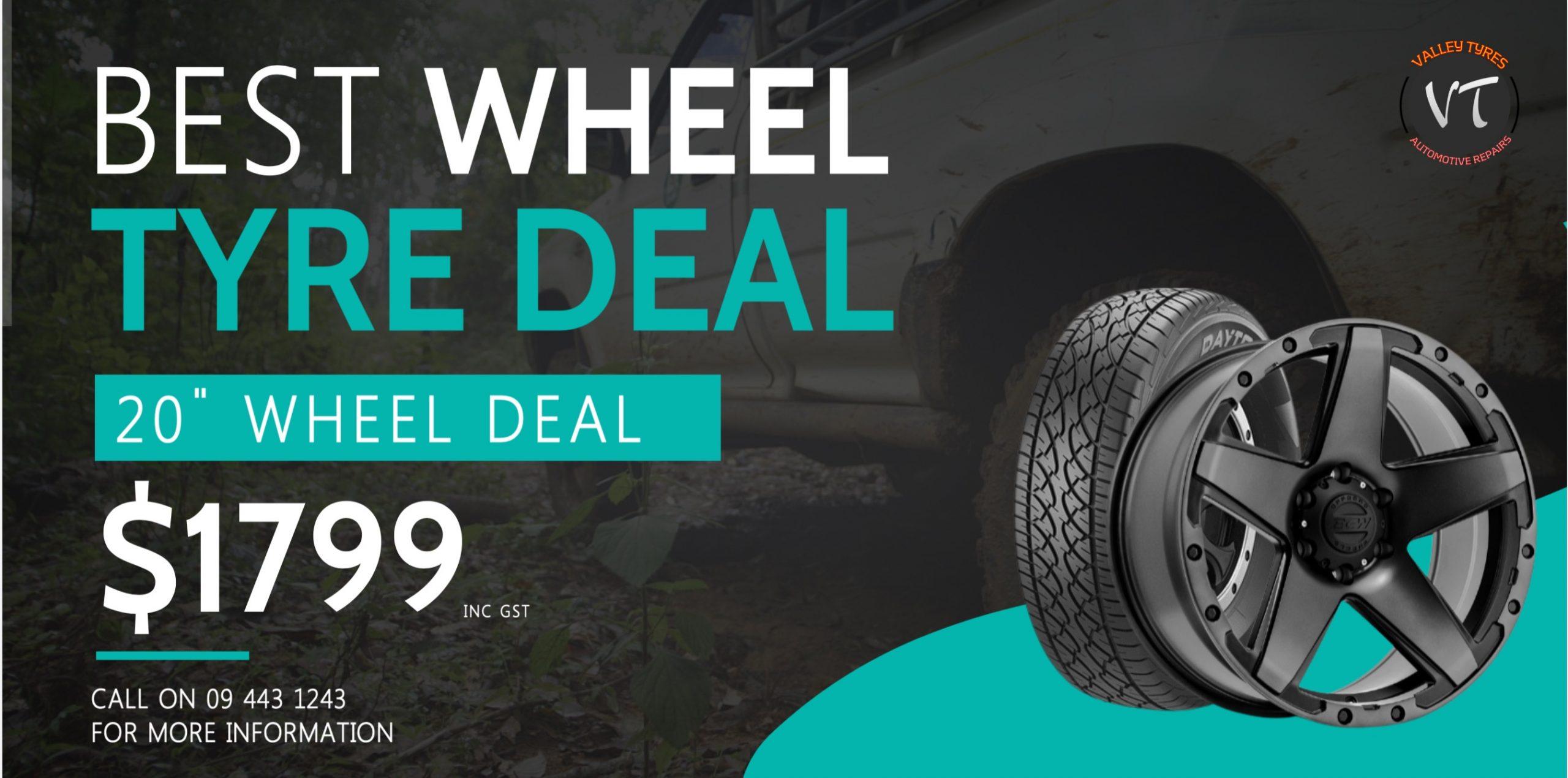 "Wheel and tyre combo 20"" Wheels"