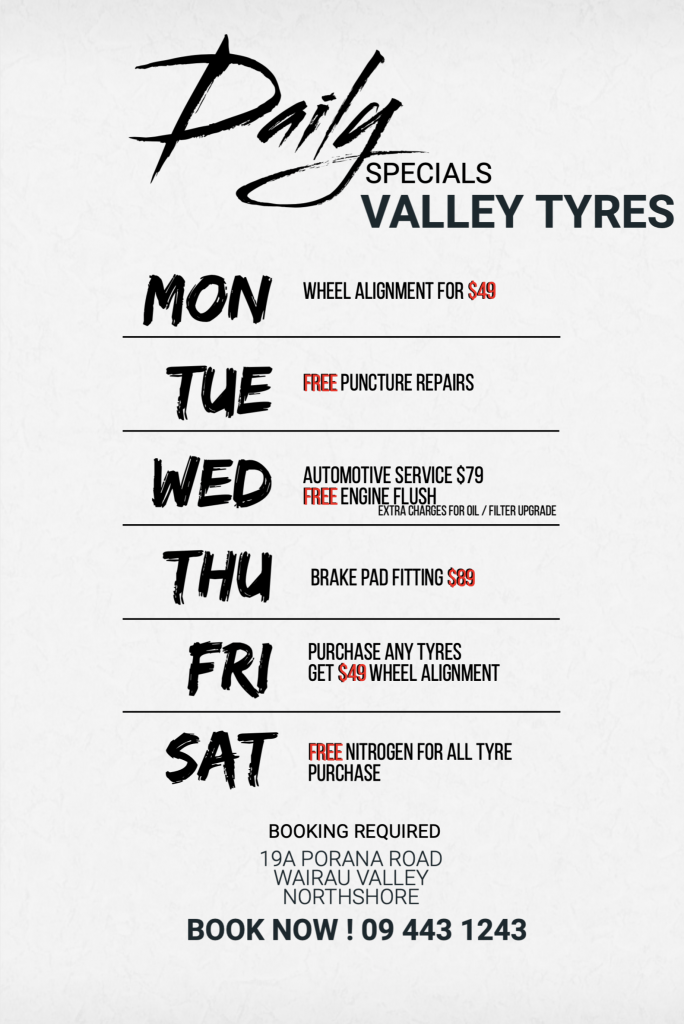 Special of the month Valley Tyres